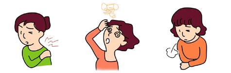 交感神経に由来する不快な症状