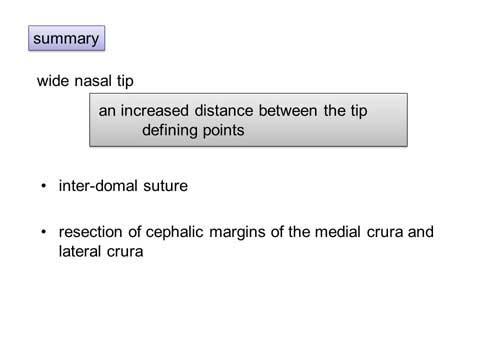 第101回 鼻尖縮小術:軟骨の処理英語スライド1