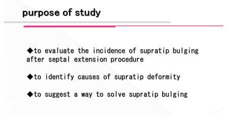 鼻尖形成術の問題点について学んだことの説明スライド
